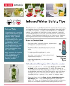 Cover photo for Infused Water Safety Tips