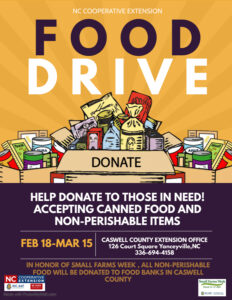 Cover photo for Caswell County Food Drive